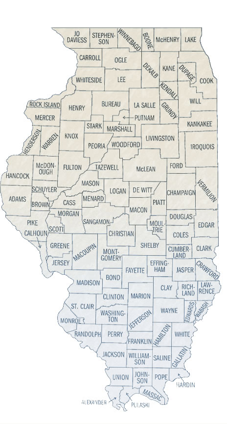 Illinois Townships Map
